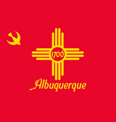 Flag of albuquerque in new mexico usa vector