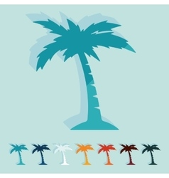 Flat design palm vector