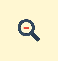 flat icon magnifier element vector image