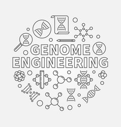Genome engineering round outline vector