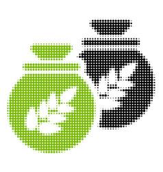 grain harvest sacks halftone icon vector image
