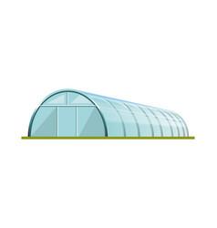 Greenhouse with polyethylene film vector
