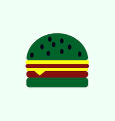 Hamburger icon burger vector