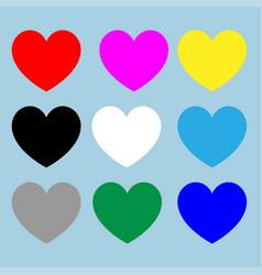 heart set for valentine days vector image