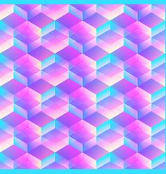Holographic geometric mosaic seamless pattern vector