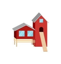 House of forester icon cartoon style vector