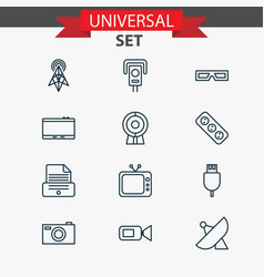 Icons set collection of universal serial bus vector