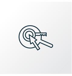 keyword research icon line symbol premium quality vector image