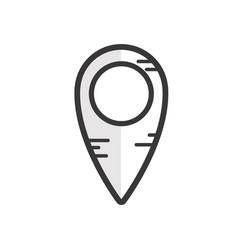 Line location symbol to destination map vector