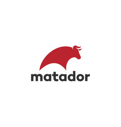 matador buffalo bull bison logo design inspiration vector image