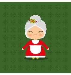 Merry christmas card mrs claus vector