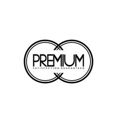 modern vintage logo template vector image