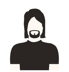 monochrome half body man with beard without face vector image