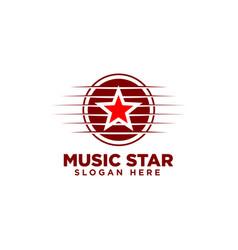 Music star logo design template vector