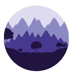 nature landscape background vector image