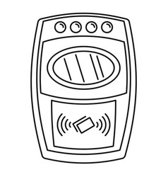 Nfc payment wall device icon outline style vector