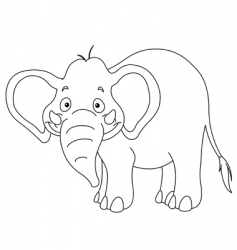 outlined elephant vector image