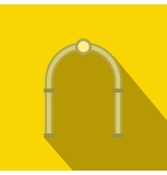 Oval arch icon flat style vector