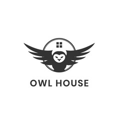 owl house logo design vector image