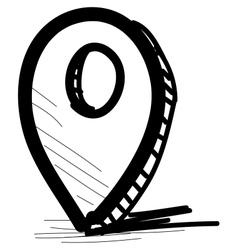 Round pointer vector image