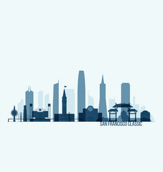San francisco skyline building vector