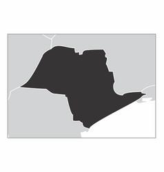 Sao paulo state map vector