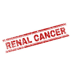 Scratched textured renal cancer stamp seal vector