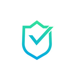 Security concept shield with checkmark vector