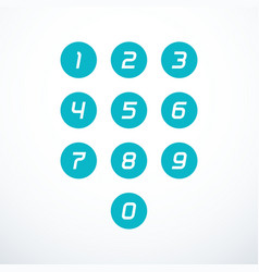 set 0-9 number icons vector image