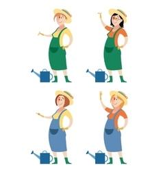 set gardener women vector image
