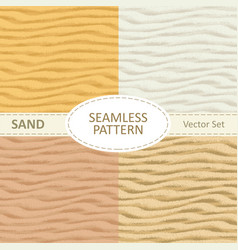 Set of seamless sand texture background vector