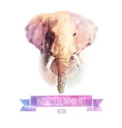 Set watercolor cute vector