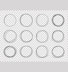 sketch circles hand drawn circled frames vector image