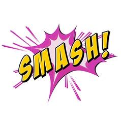 Smash flash on white vector