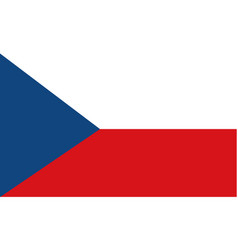 stock flag of czech republic vector image
