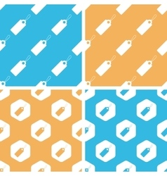 String tag pattern set colored vector image