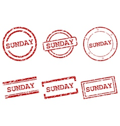 Sunday stamps vector