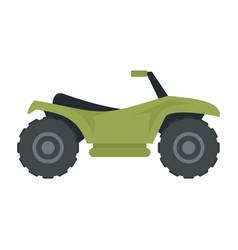 Terrain quad bike icon flat style vector