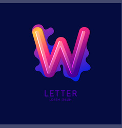 the letter w latin alphabet display vector image