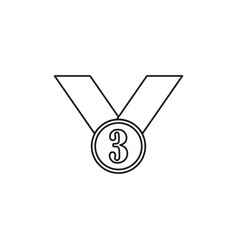 Third place icon vector