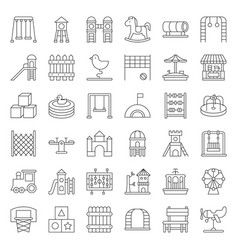 toys playground and rides icon thin line vector image