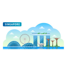 Travel to singapore vector