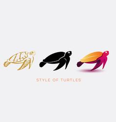 turtle design vector image