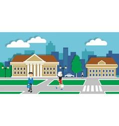 urban life vector image