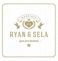 wedding save date invitation card design vector image