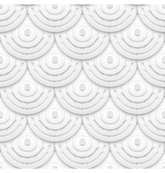 white paper circles seamless pattern vector image