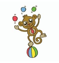 Funny monkey t-shirt design for kids vector image vector image