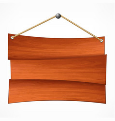 Wooden board on rope vector