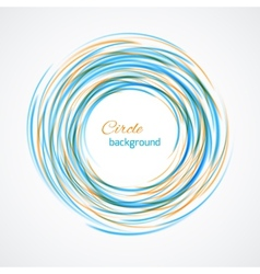 Abstract circle bright background vector image vector image