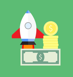 investing and starting startup vector image vector image